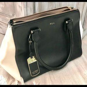 Lauren Ralph Lauren black and white handbag
